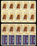 Bosnia-Herzegovina-Croat Post Mostar 1996 Virgin Mary StampCard:2 - Bosnia And Herzegovina
