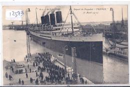SAINT-NAZAIRE- DEPART DU PAQUEBOT FRANCE- 3 AVRIL 1912 - Saint Nazaire