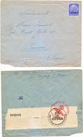 ALSACE ENV 1941 TIMBRE ELSASS JUNGBOLZ + CENSURE ALLEMANDE WEHRMACHT VOIR LES SCANS - 1921-1960: Modern Period