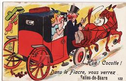 SALIES DE BEARNE -64- Carte Dépliant 10 Vues - Hue! Cocotte! Dans Le Fiacre,vous Verrez Salies De Béarn - Salies De Bearn