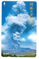Volcan Volcano Cratère Montagne Mountain Télécarte Phonecard Japon (T 91) - Montagne