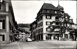 CPA Brugg Kt Aargau Schweiz, Hauptstraße, Schweizerische Volksbank - AG Aargau