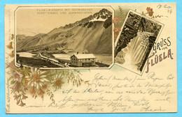 Gruss Vom Flüela 1897 - Flüela-Hospiz Mit Schwarzsee, Schottensee Und Schwarzhorn - GR Grisons