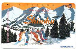 Ski Montagne Mountain Télécarte Phonecard Japon (T 92) - Montagne