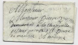 LETTRE ANNECY HAUTE SAVOIE 1737 POUR ST PIERRE - 1701-1800: Precursori XVIII
