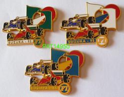 F1  SUZUKA  95 1995 FERRARI  WILLIAMS RENAULT LOT De 3 PINS DIFFERENTS - F1