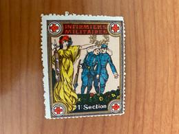Vignette - Infirmiers Militaires 1 ère Section - Croix Rouge - Croix Rouge