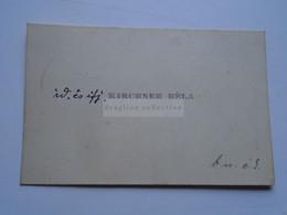 D176803 Carte De  Visite - Visiting Card  Ca 1910-20's  - Id. és Ifj.  KIRCHNER Béla   Budapest  Hungary - Cartoncini Da Visita
