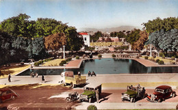 Maroc - OUJDA - Jardin Et Bassin De La Poste - Automobile, Jeeps, Camion, Moto - Otros