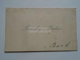 D176805  Carte De  Visite - Visiting Card  Ca 1910-20  LEVICZKY Aladár     Budapest  Hungary - Visiting Cards