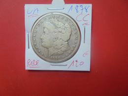 """U.S.A 1$ 1878 """"CC"""" RARE !!! ARGENT (A.9) - 1878-1921: Morgan"""