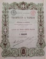 Tramways A Vapeur Des Provinces .de Vérone Et De Vicenza (1881) - Ferrocarril & Tranvías