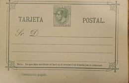 A) 1882 CIRCA, SPAIN, POSTAL STATIONARY, KING ALFONSO XII STAMP - Cartas