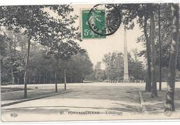 97. FONTAINEBLEAU . L'OBELISQUE . CARTE AFFR SUR RECTO LE 15-5-1911 - Fontainebleau