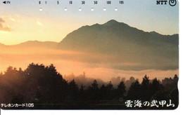 Montagne Mountain Télécarte Phonecard Japon (T 94) - Montagne