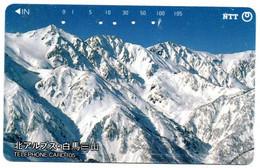 Montagne Mountain Télécarte Phonecard Japon (T 96) - Montagne