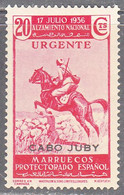 CAPE JUBY   SCOTT NO  E4    MINT HINGED    YEAR  1937 - Cabo Juby