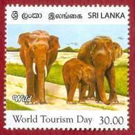 Sri Lanka Stamps 2011, World Tourism Day, Elephants, Elephant, MNH - Sri Lanka (Ceylon) (1948-...)