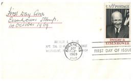 (II 4) USA -  FDC 1969 - President Eisenhower - 1961-1970