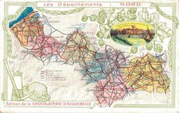 59  LES DEPARTEMENTS LE NORD EDITION DE LA CHOCOLATERIE D'AIGUEBELLE - Cartes Géographiques