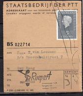 Adreskaart RUEPERT Den Haag (Q18) - Briefe U. Dokumente