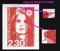 FAUX DE SEINE ET MARNE (Y&T N° 2614) - Neuf** - Voir Descriptif - Varieties: 1980-89 Mint/hinged