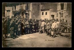 55 - SAINT-MAURICE-SOUS-LES-COTES - SOUPE DES SOLDATS - FELDPOSTKARTE - GUERRE 14/18 - Autres Communes