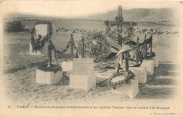 Militaria TAGHIT TOMBES DU LIEUTENANT SELCHAUHANSEN ET CAPITAINE VAUCHER TUE EL-MOUNGAR J. GEISER GUERRE LEGION - Other