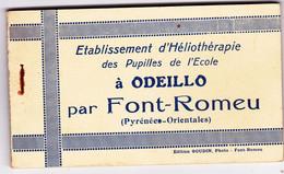 Odeillo Par Font-Romeu, Etablissement D'Héliothérapie Des Pupilles De L'Ecole, Carnet 12 Cartes - Andere Gemeenten
