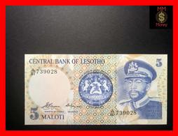 LESOTHO 5  Maloti 1981  P. 5    UNC - Lesotho