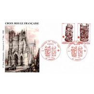 FDC - Croix-Rouge : Stalles De La Cathédrale D'Amiens - 6/12/1980 - 1980-1989
