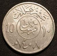 ARABIE SAOUDITE - 10 HALALA 1988 ( 1408 ) - Fahd Bin Abd Al- Aziz - KM 62 - Saudi Arabia - Saudi Arabia
