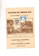 Louviers 27 Journée Du Timbre 1977 1ier Jour Brochure Exposition Avec Noms Des Exposants - Brieven En Documenten