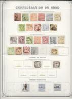 Allemagne Confédération Du Nord Belle Collection De 28 Classiques 1868-69 O - Norddeutscher Postbezirk (Confederazione Germ. Del Nord)