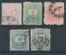1874. Colour Number Krajcar A Set - Used Stamps