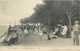 CPA 17 Charente Maritime Royan La Promenade Botton - Royan