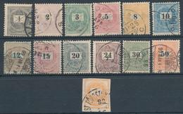 1898. Black Number Krajcar - Used Stamps
