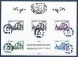 """TRÉSORS DE LA PHILATÉLIE : BLOC BS34 """" CHATEAU D'UZÈS """" (TIMBRE TYPE N° 1099) OBLITÉRÉ LA POSTE 2017 SAVOIE - Used"""