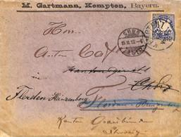 Allemagne Reich 1898  Lettre De Kempten    (G0886) - Covers & Documents