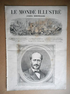 LE MONDE ILLUSTRE 20/01/ 1872 GUSTAVE LAMBERT POLE NORD BUZENVAL ALGERIE EL ABIOD GANT OPERA SARDOU OFFENBACH ESPAGNE - 1850 - 1899