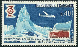 France Frankreich Francia 1968  Expéditions Polaires Polar Expeditions Nord Noratlas, Alouette II Hélicoptère Helicopter - Aerei