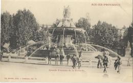 CPA - 13 - Aix En Provence - Grande Fontaine De La  Rotonde - Précurseur - Aix En Provence