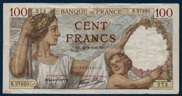 "FR Billet De 100 Francs ""Sully"" Du 29-1-1942 Bon état - 100 F 1939-1942 ''Sully''"