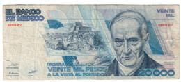 MEXICO20000PESOS27/08/1987P91F+.CV. - Mexico