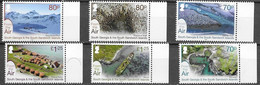 SOUTH GEORGIA, 2020, MNH,  SOUTH GEORGIA FROM ABOVE, PENGUINS, SEALS, WHALING STATION, LANDSCAPES, 6v - Pinguini