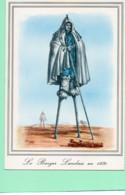 40----LA LANDE--Le Berger Landais Sur échasses Avec Ses Moutons--( Reproduction D'une Gravure En 1830 )---voir 2 Scans - Unclassified