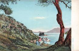 Grece Corfou Canon Ilot Ile De Pontikonissi Pontikonisi Cpa Carte Colorisée - Grecia