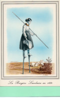 40----LA LANDE--Le Bergère Landaise Sur échasses Avec Ses Moutons--( Reproduction D'une Gravure En 1830 )---voir 2 Scans - Unclassified