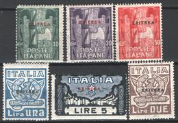 Eritrea 1923 Sass.65/70 */MH VF/F - Eritrea