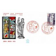 FDC N° 995 - Croix-Rouge (1910) - Sculptures De L'Eglise De Brou - 20/11/1976 - 1970-1979